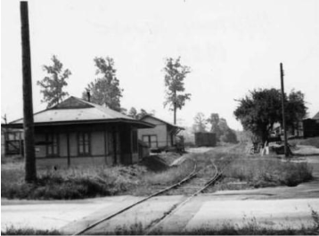 The Passenger Station and Freight Station circa 1937