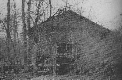 The abandoned Freight Station before it was saved, relocated and restored