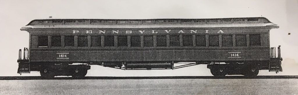 A picture of sister car #1414, showing what the cars would have looked like when new
